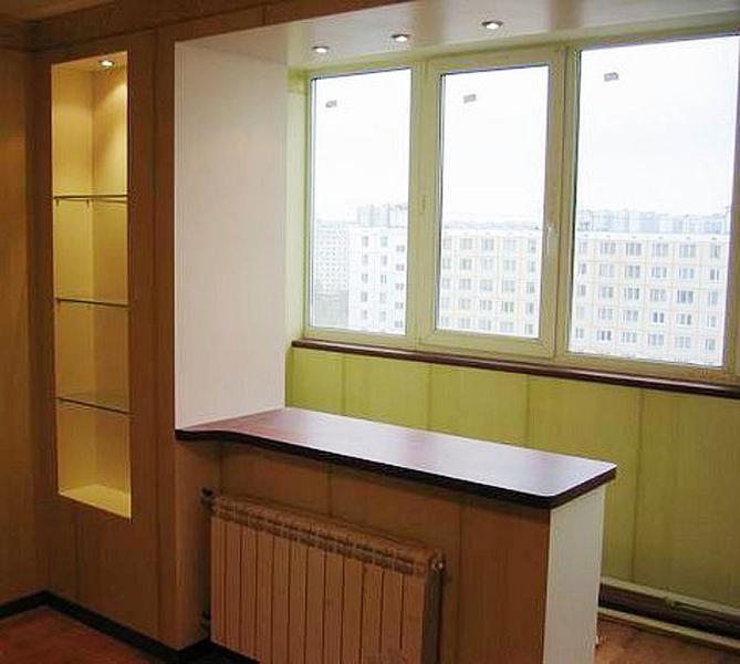 Фотографии ремонтно - отделочных работ по балконам, лоджи....